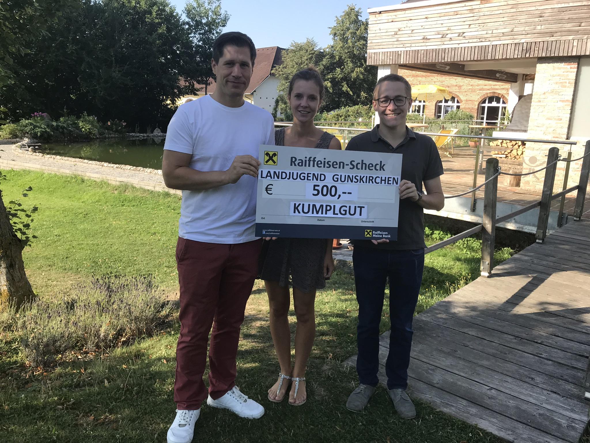 Landjugend Gunskirchen spendet € 500,– an den Erlebnishof