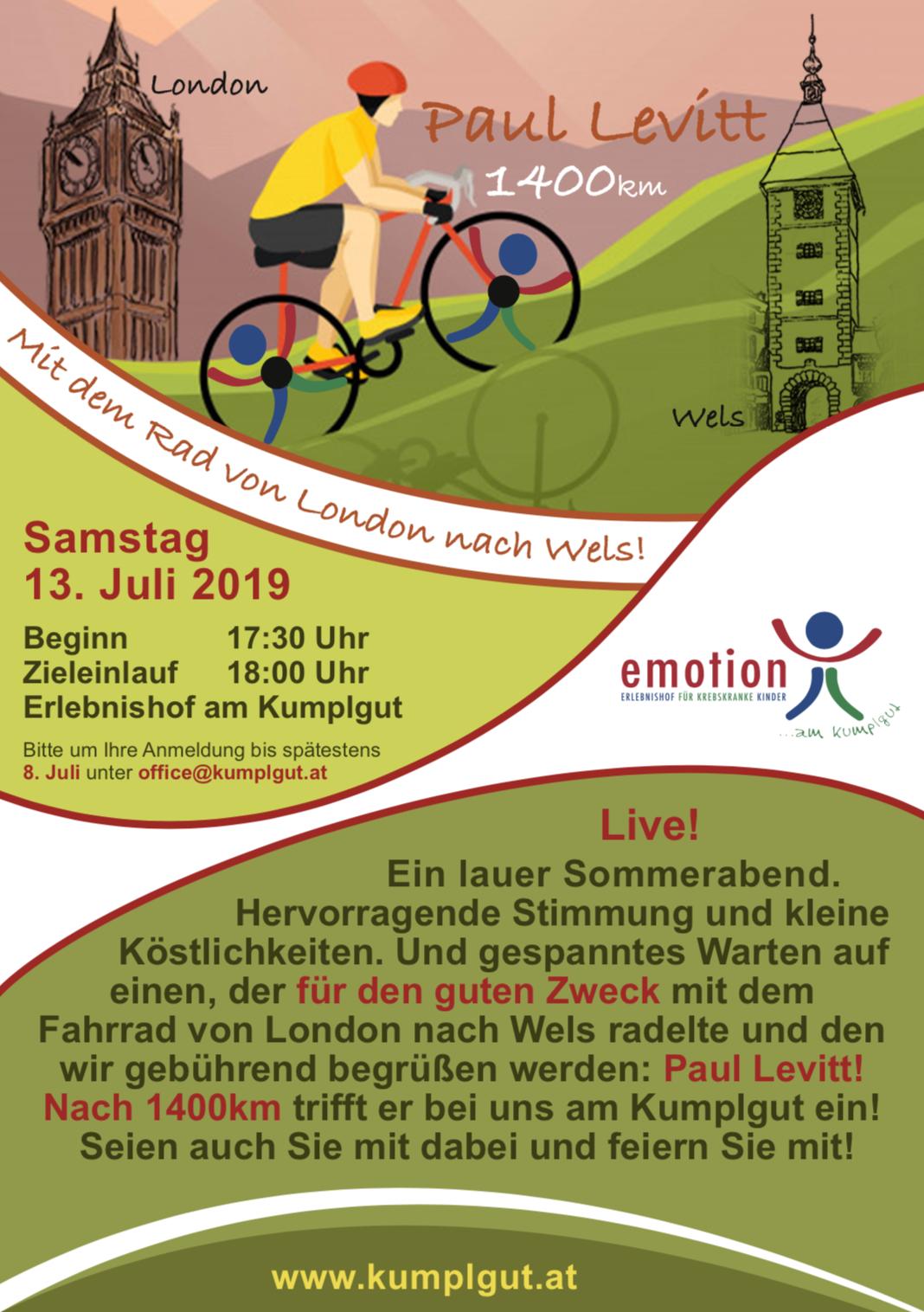 London -> Wels, 1.4oo Kilometer mit dem Rennrad