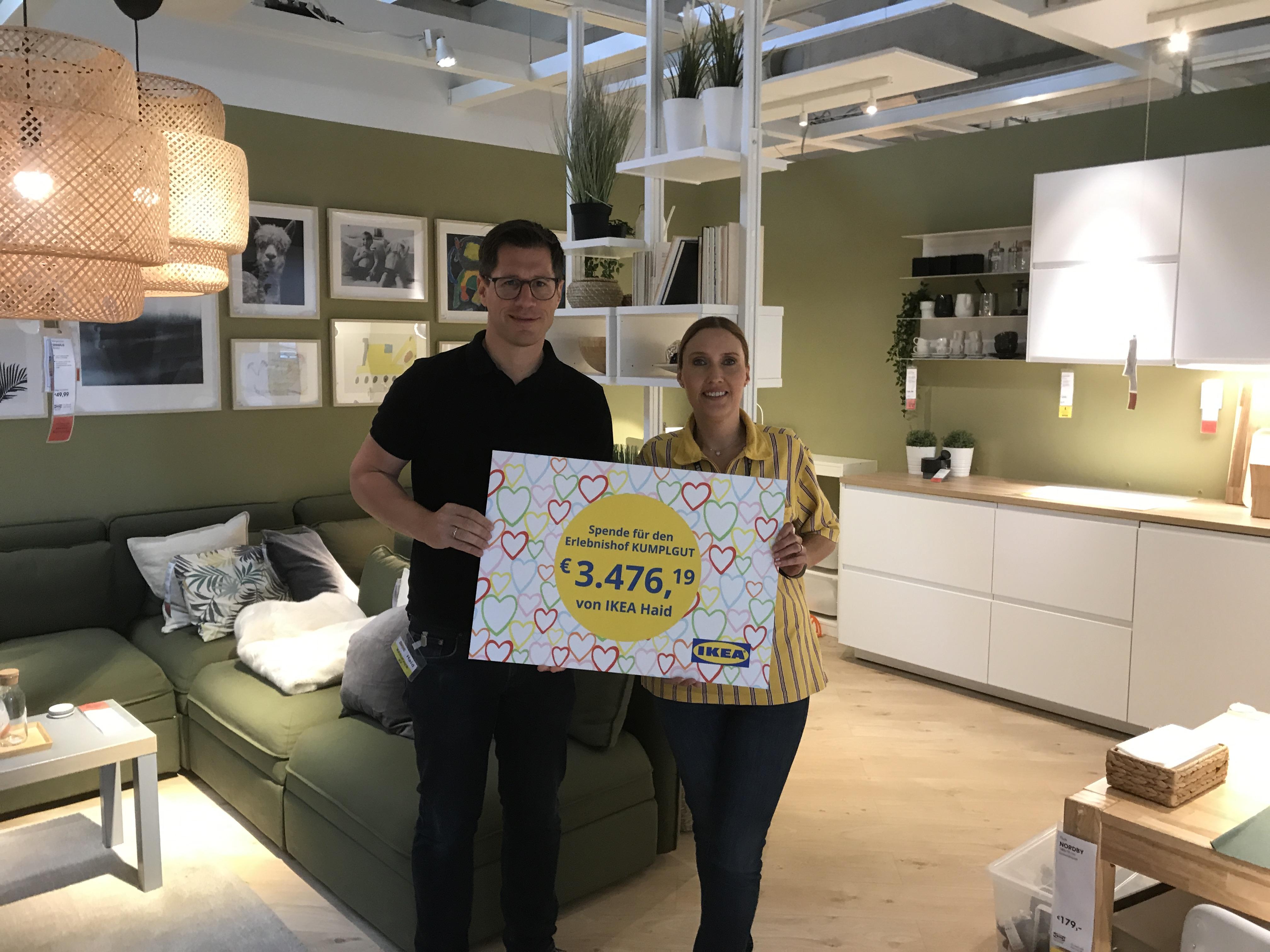 IKEA Haid/Ansfelden spendet erneut für den Erlebnishof
