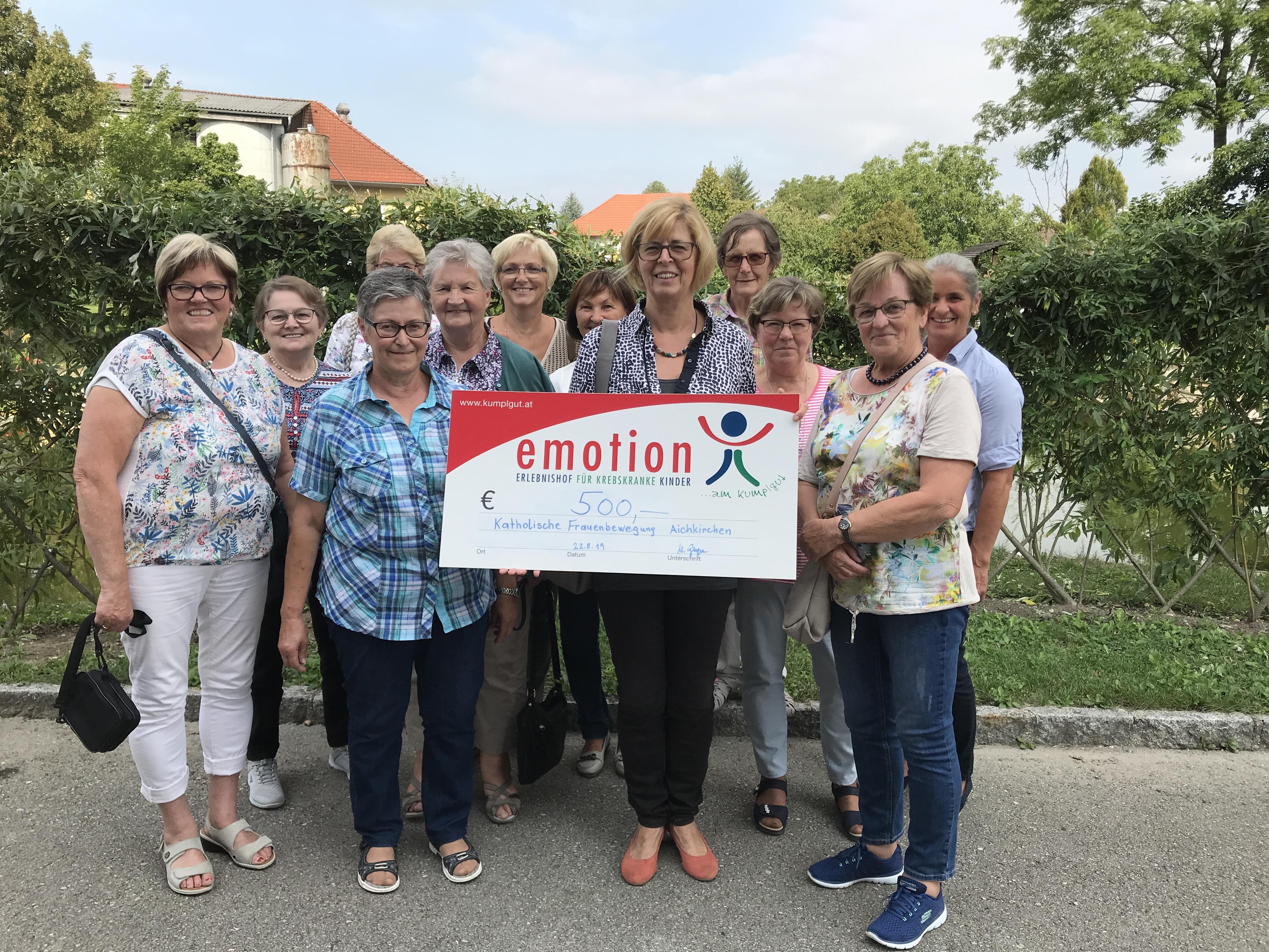 Katholische Frauenbewegung Aichkirchen unterstützt unser Projekt